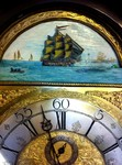 A 8 Day Brass Face Rocking Ship Grandfather Clock.£6,500