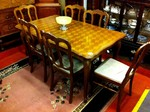 Oak french table & chairs.£425